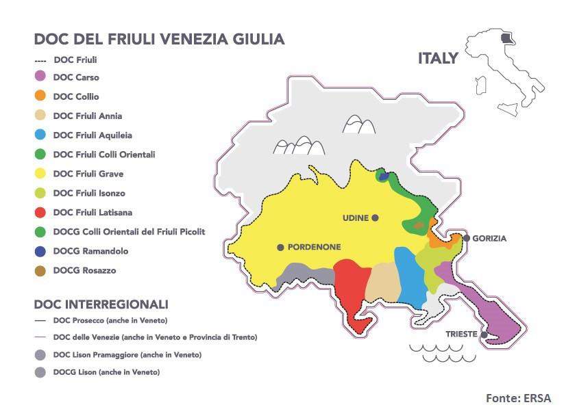 Lista Zone DOC del Friuli Venezia Giulia